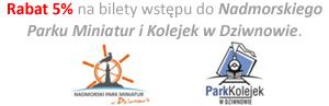 Rabat 5% na bilety wstępu do Nadmorskiego Parku Miniatur i Kolejek w Dziwnowie